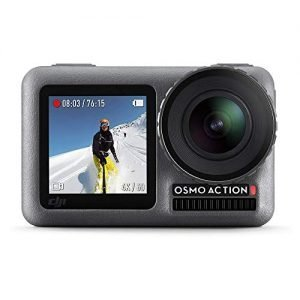 DJI Osmo Action – 4K Action Cam 12MP Digital Camera with 2 Displays 36ft Underwater Waterproof WiFi HDR Video 145° Angle, Black